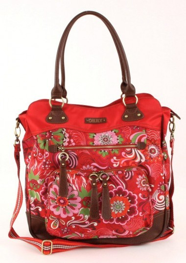 Oilily Graphic flower Wickeltasche rot
