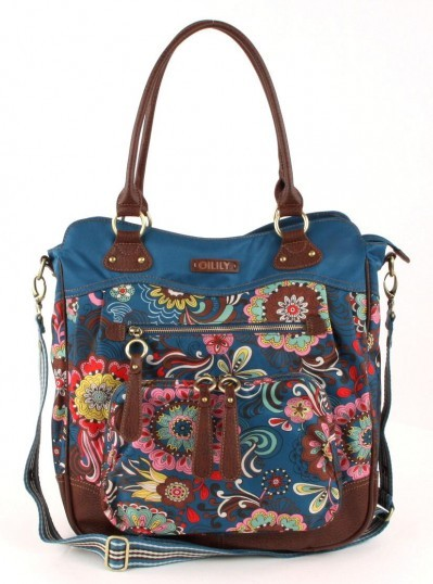 Oilily Graphic flower Wickeltasche blau