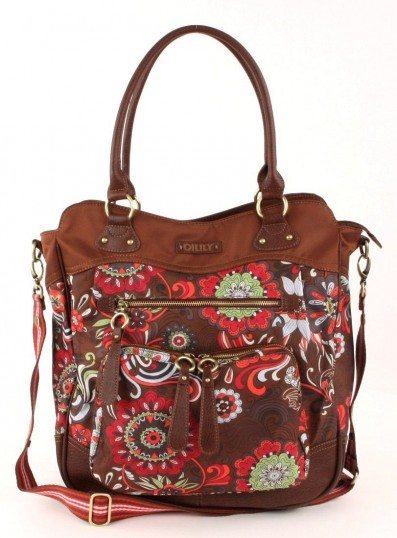 Oilily Graphic flower Wickeltasche braun