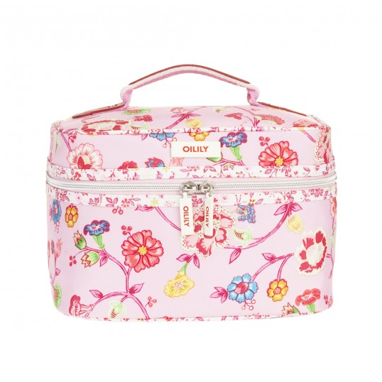 oilily classic ivy square beauty case tasche kosmetiktasche kulturtasche rosa ebay. Black Bedroom Furniture Sets. Home Design Ideas