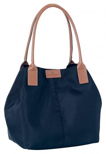 tom tailor miri shopper tasche handtasche schultertasche nylon braun blau neu ebay. Black Bedroom Furniture Sets. Home Design Ideas
