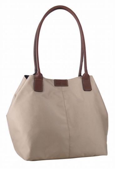 tom tailor miri large shopper tasche handtasche schultertasche nylon beige neu ebay. Black Bedroom Furniture Sets. Home Design Ideas