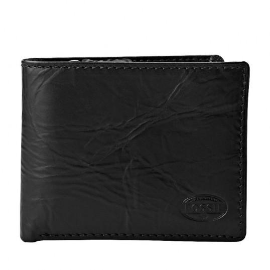 fossil norton large zip bifold geldb rse geldbeutel portemonnaie herren schwarz ebay. Black Bedroom Furniture Sets. Home Design Ideas