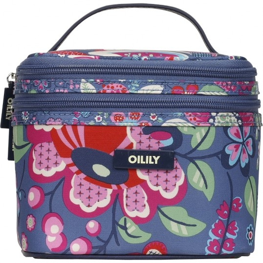 oilily winter blossom square cosmetic bagtasche kosmetiktasche kulturbeutel blau eur 45 00. Black Bedroom Furniture Sets. Home Design Ideas