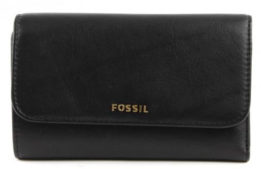 fossil memoir flap wallet geldb rse portemonnaie geldbeutel damen leder schwarz ebay. Black Bedroom Furniture Sets. Home Design Ideas