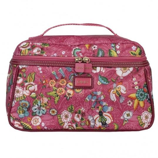 oilily french flowers beauty case tasche kosmetiktasche kulturbeutel damen pink ebay. Black Bedroom Furniture Sets. Home Design Ideas