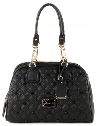 guess cailin cali satchel tasche schultertasche handtasche damen schwarz black ebay. Black Bedroom Furniture Sets. Home Design Ideas