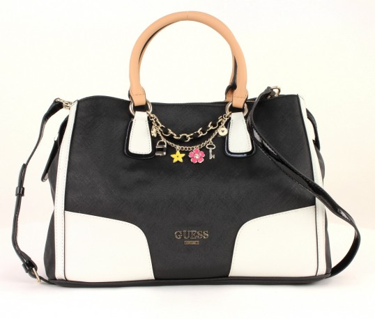 guess girlfriend satchel tasche handtasche umhangetasche damen schwarz. Black Bedroom Furniture Sets. Home Design Ideas