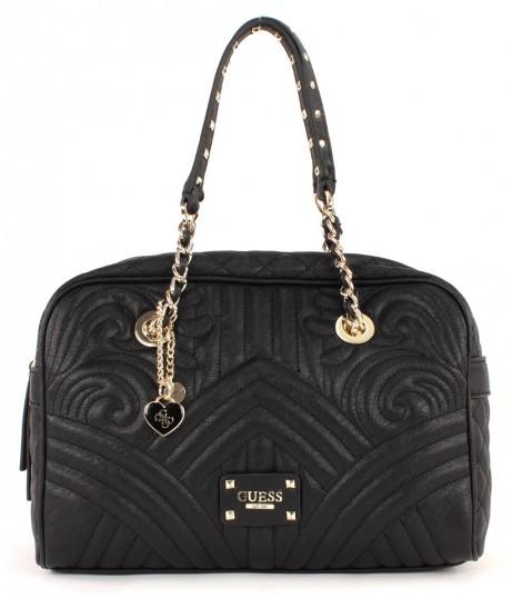 guess quilting rose box satchel tasche handtasche. Black Bedroom Furniture Sets. Home Design Ideas