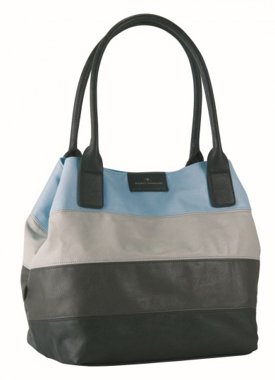 tom tailor miripu stripes shopper bag handbag shoulder bag ladies green ebay. Black Bedroom Furniture Sets. Home Design Ideas
