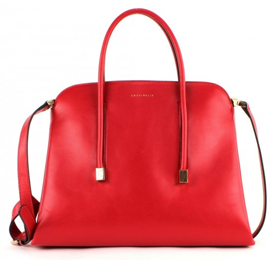 coccinelle delia handbag tasche handtasche schultertasche damen leder rot rosso ebay. Black Bedroom Furniture Sets. Home Design Ideas
