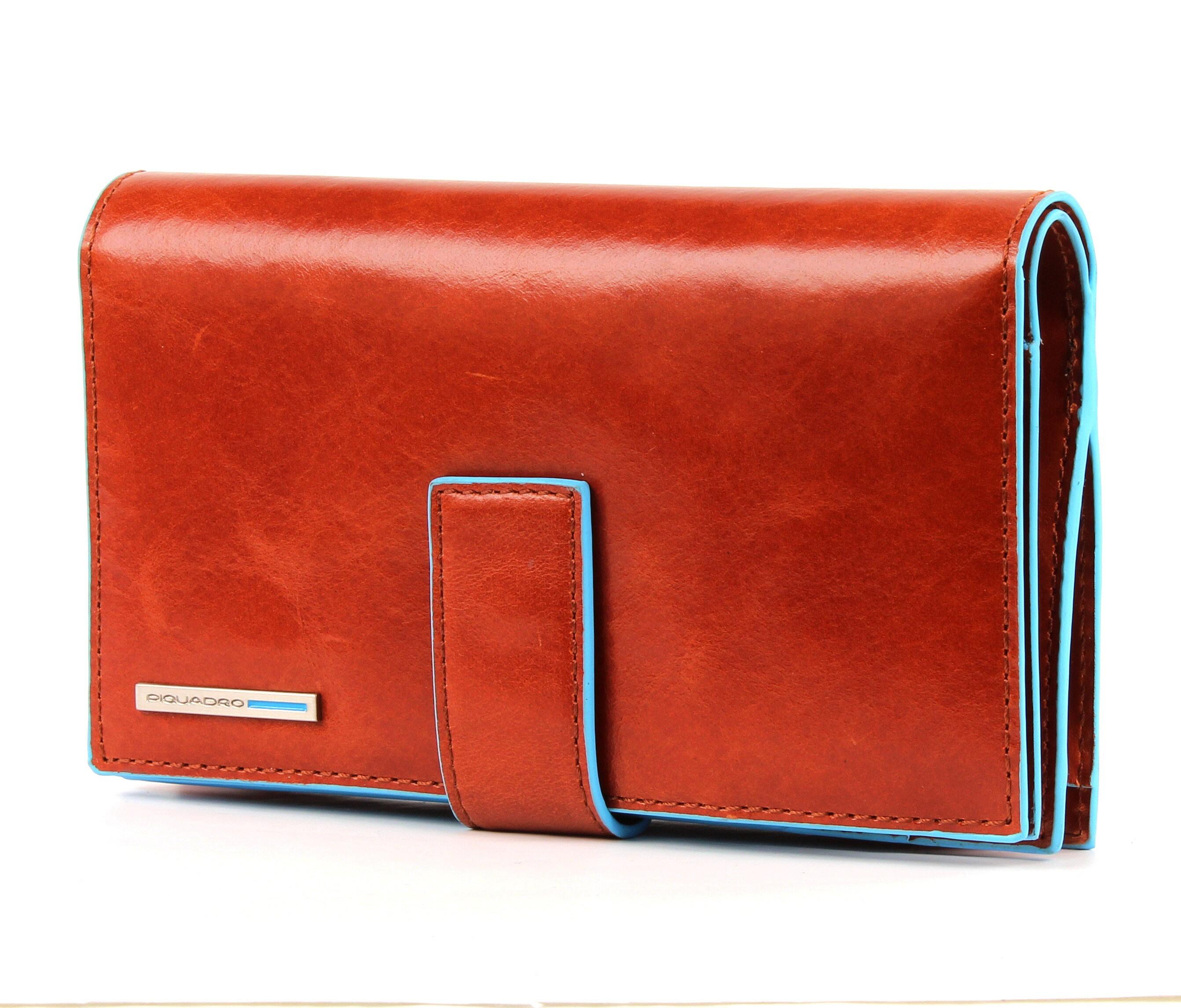 Piquadro + blu square + borsa + portafoglio + + + donna 51cd52dce63