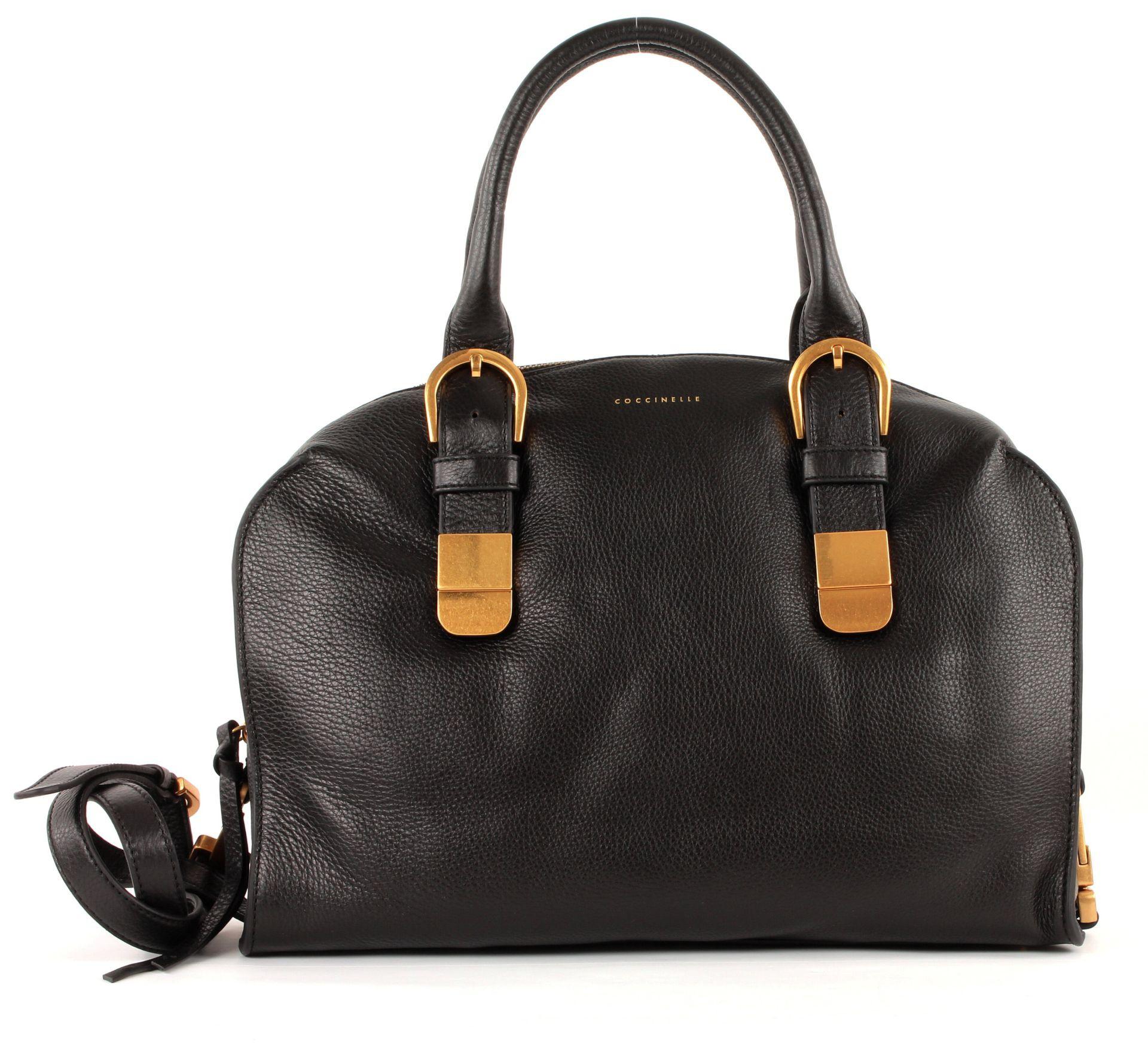 coccinelle roma handbag tasche handtasche umh ngetasche damen schwarz nero leder ebay. Black Bedroom Furniture Sets. Home Design Ideas