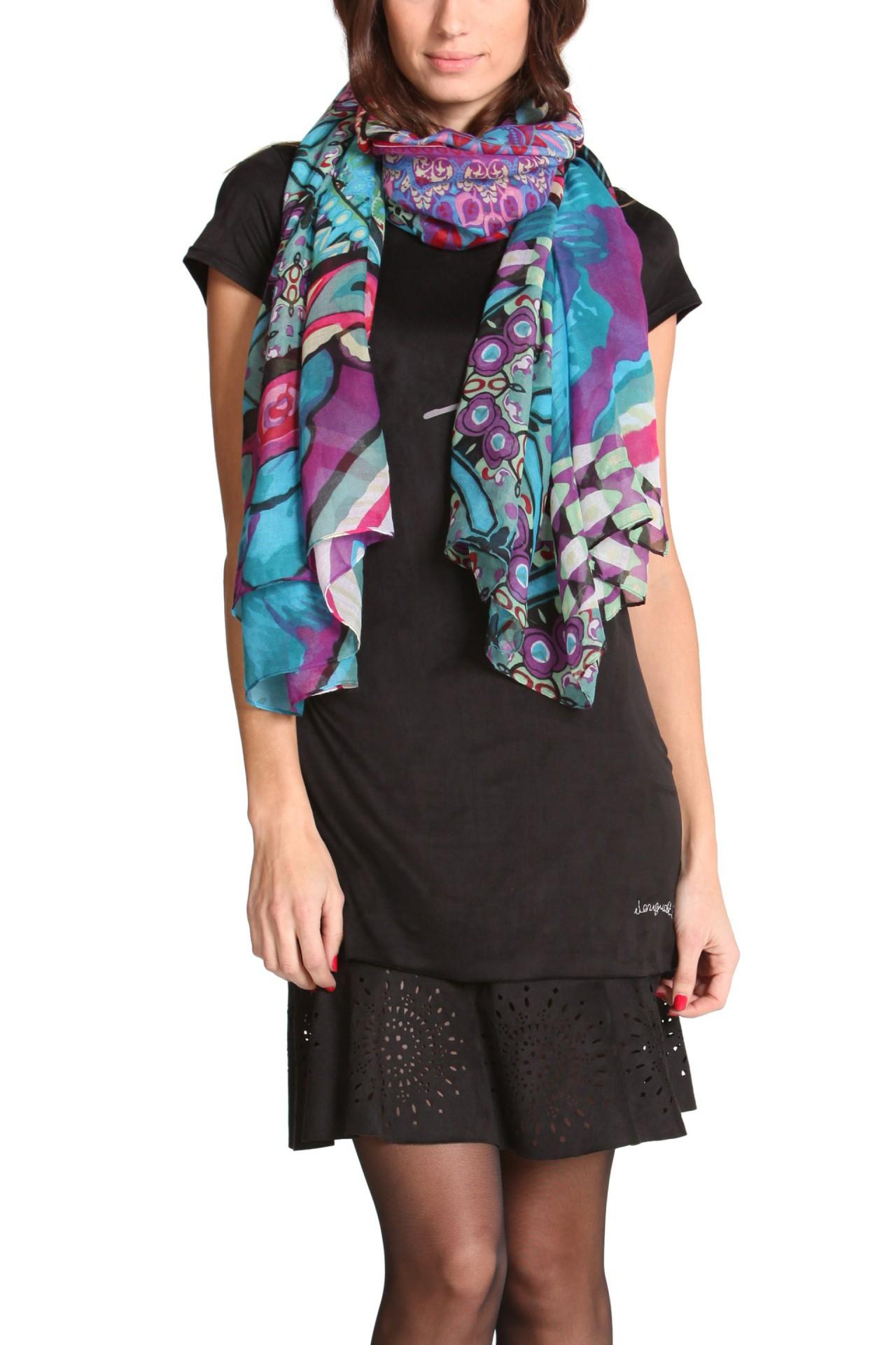 desigual foulard estambul schal tuch halstuch parero damen bunt mehrfarbig neu ebay. Black Bedroom Furniture Sets. Home Design Ideas