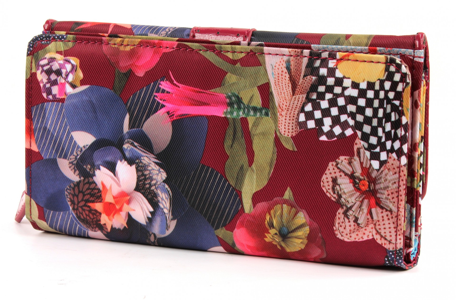 oilily ladies paper flowers purse portemonnaie wallet. Black Bedroom Furniture Sets. Home Design Ideas