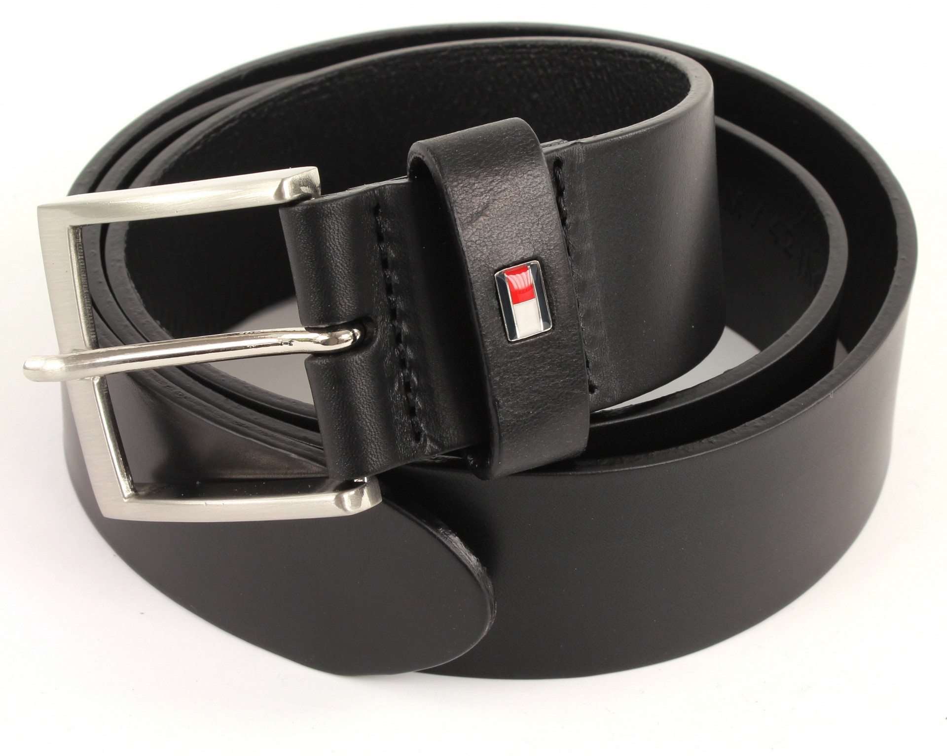 tommy hilfiger herren g rtel new denton belt einfarbig gr 90 cm schwarz black 090. Black Bedroom Furniture Sets. Home Design Ideas
