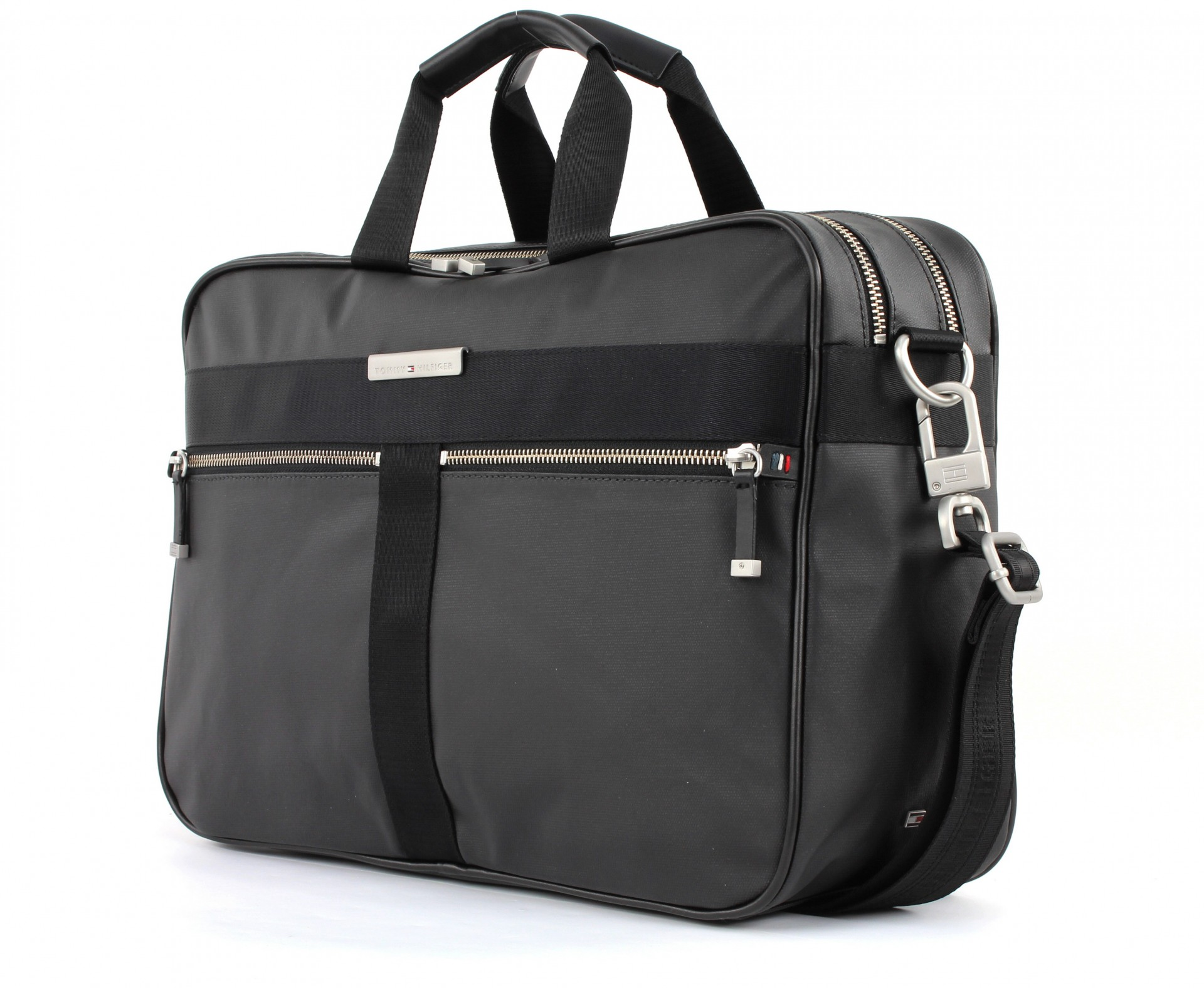 tommy hilfiger darren briefcase aktentasche umh ngetasche tasche black herren ebay. Black Bedroom Furniture Sets. Home Design Ideas