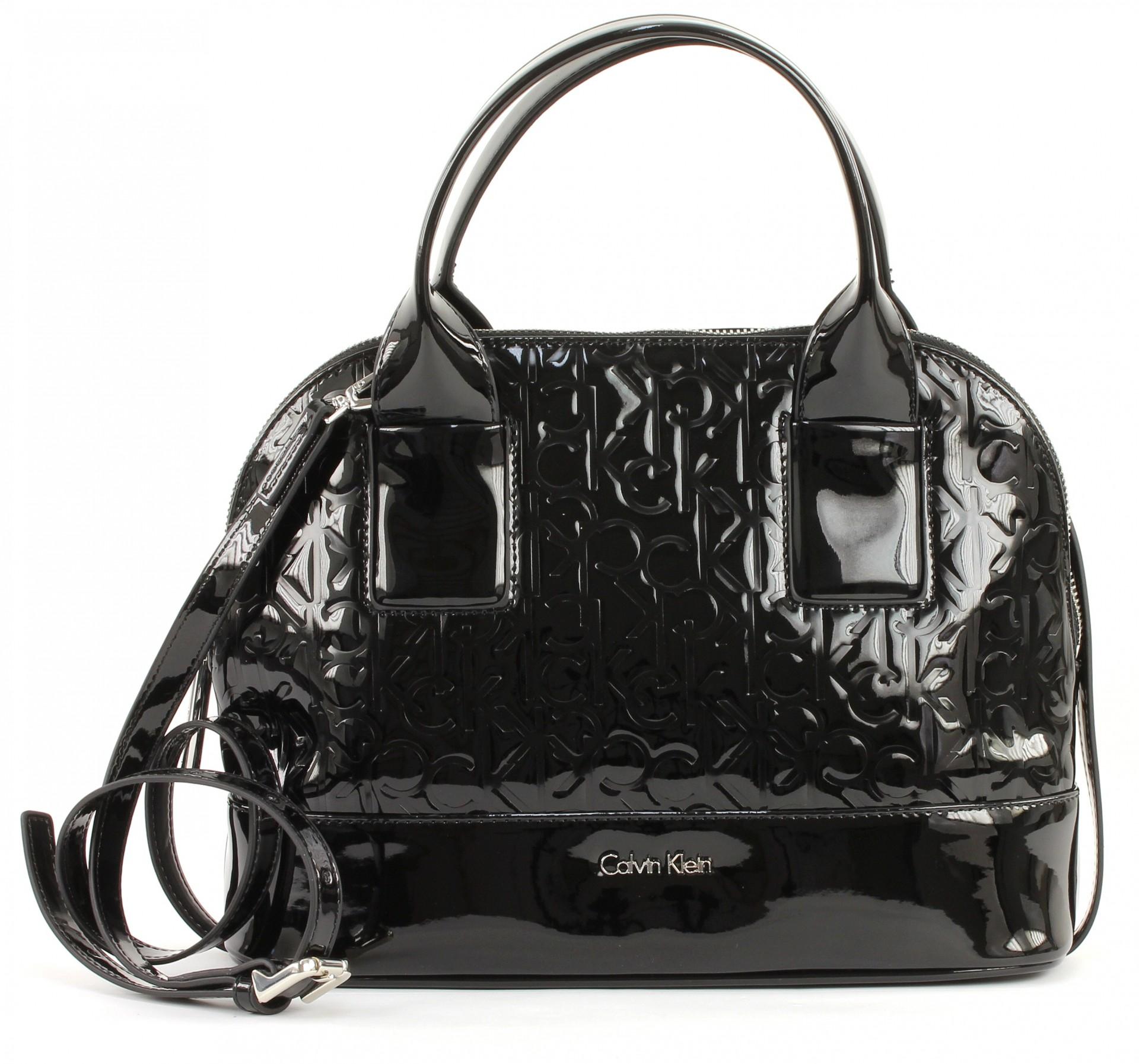 calvin klein maggie small satchel bag handbag shoulder bag ladies black ebay. Black Bedroom Furniture Sets. Home Design Ideas