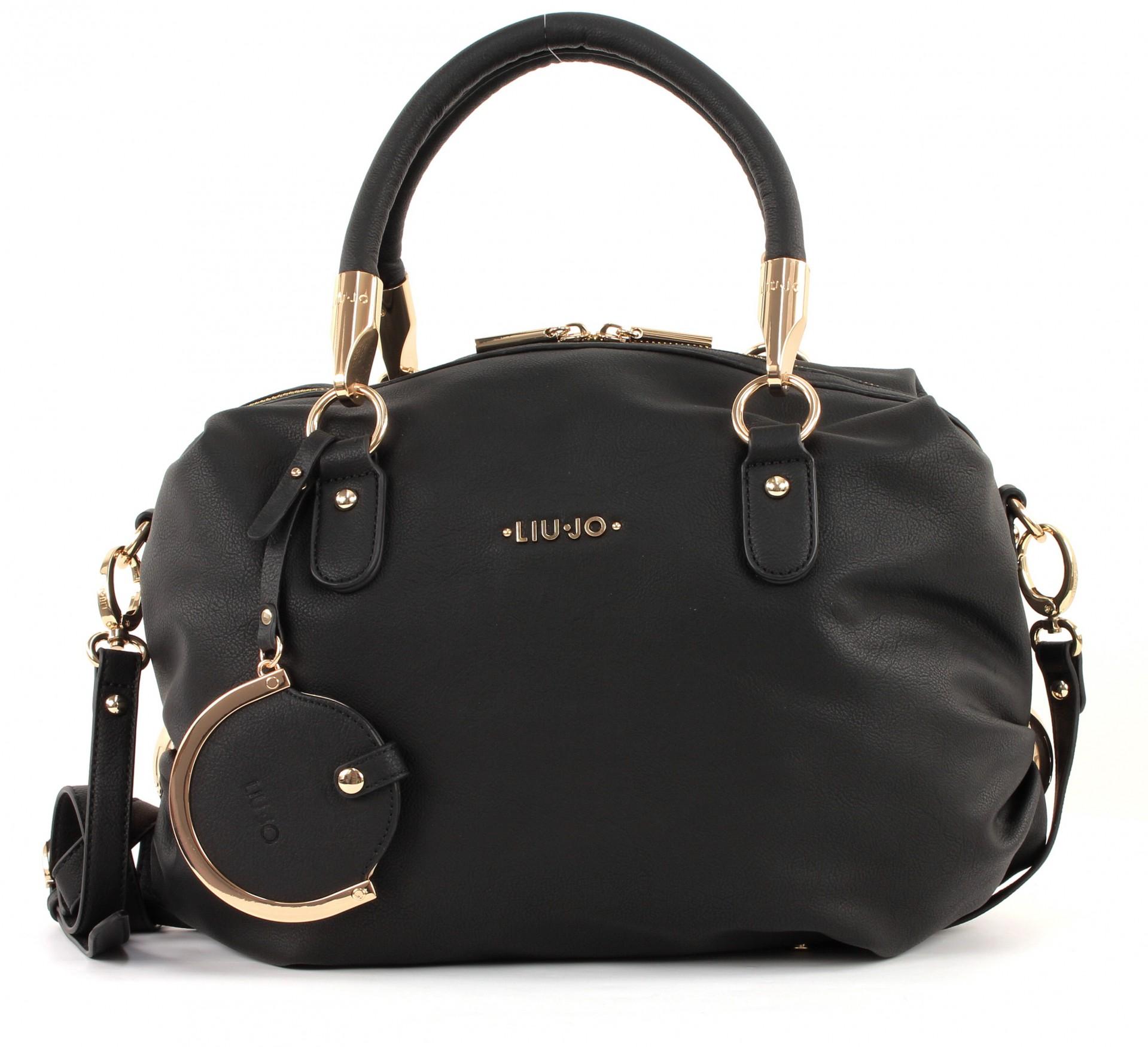 liu jo amelie bauletto l tasche handtasche umh ngetasche damen nero schwarz neu ebay. Black Bedroom Furniture Sets. Home Design Ideas