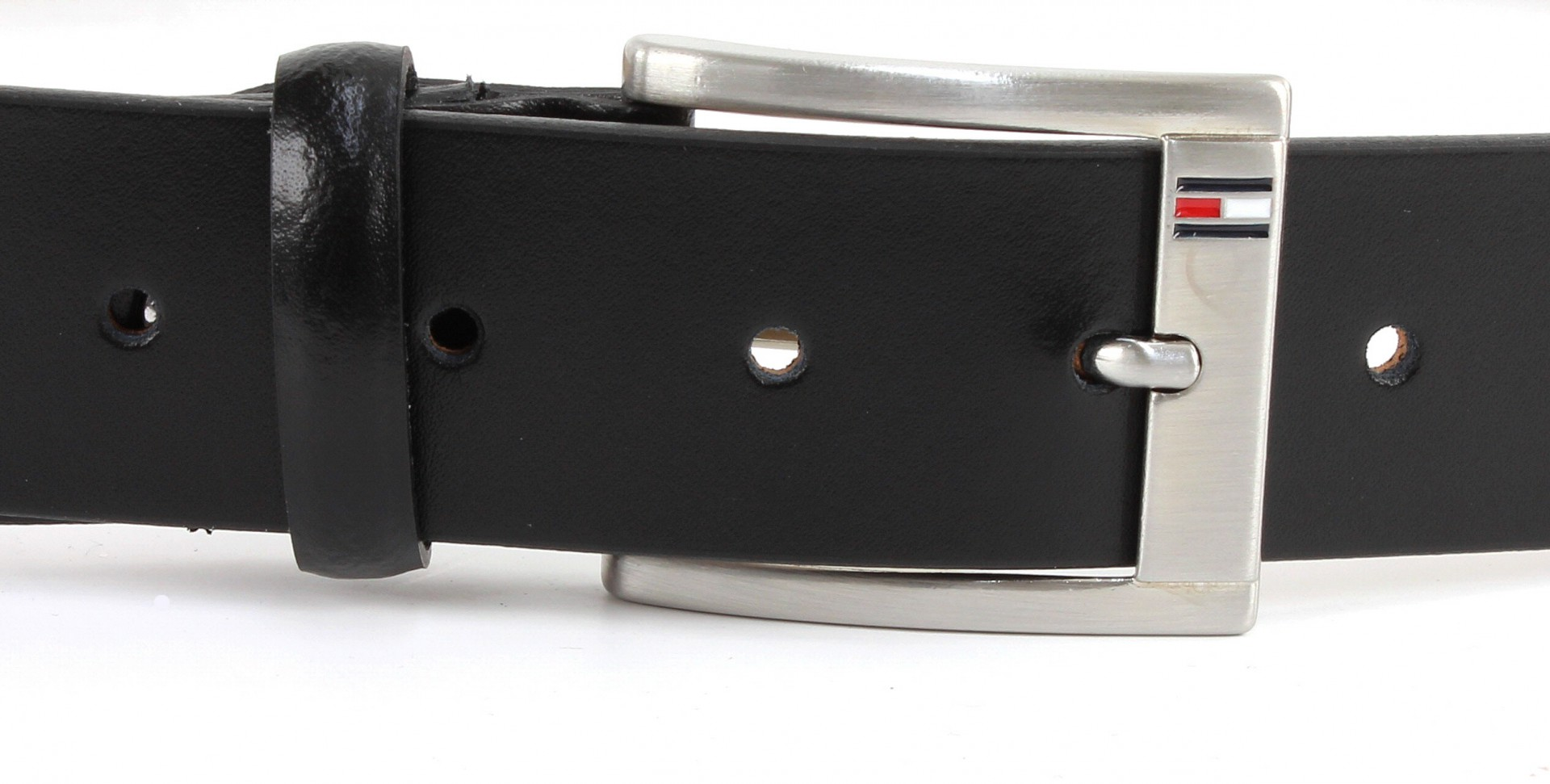cintura da uomo tommy hilfiger trenton w105 in pelle nera ebay. Black Bedroom Furniture Sets. Home Design Ideas