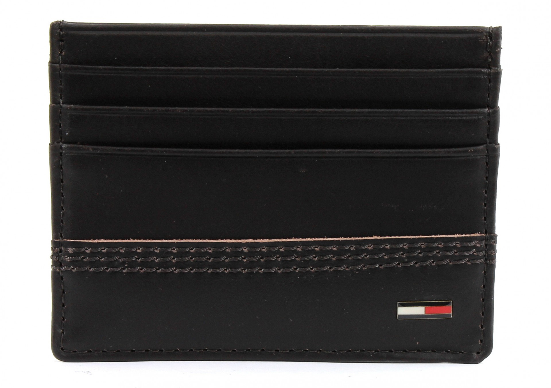 tommy hilfiger tylor cc holder wallet credit card case leather new ebay. Black Bedroom Furniture Sets. Home Design Ideas