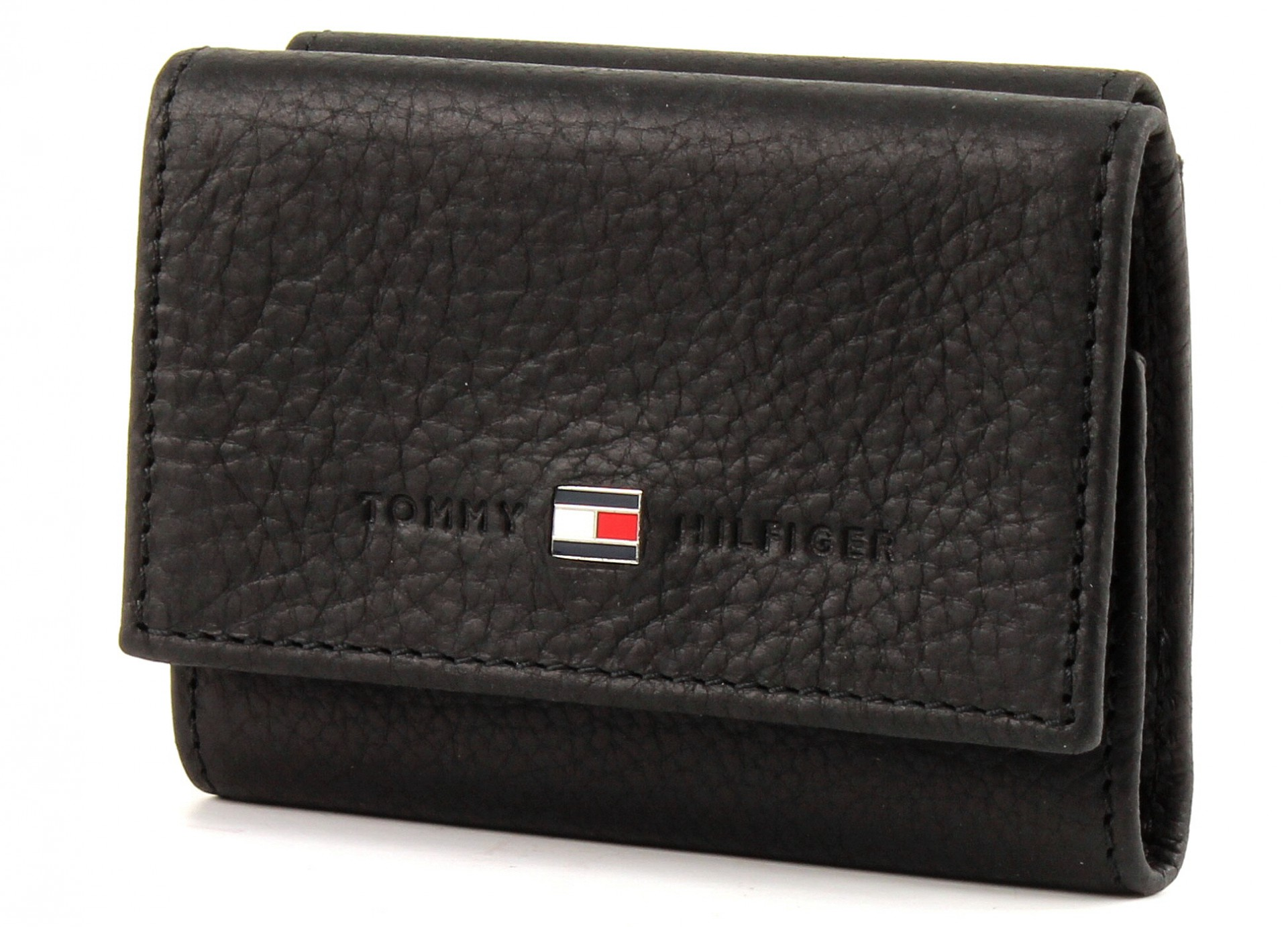 tommy hilfiger johnson mini flap wallet geldb rse portemonnaie schwarz neu ebay. Black Bedroom Furniture Sets. Home Design Ideas