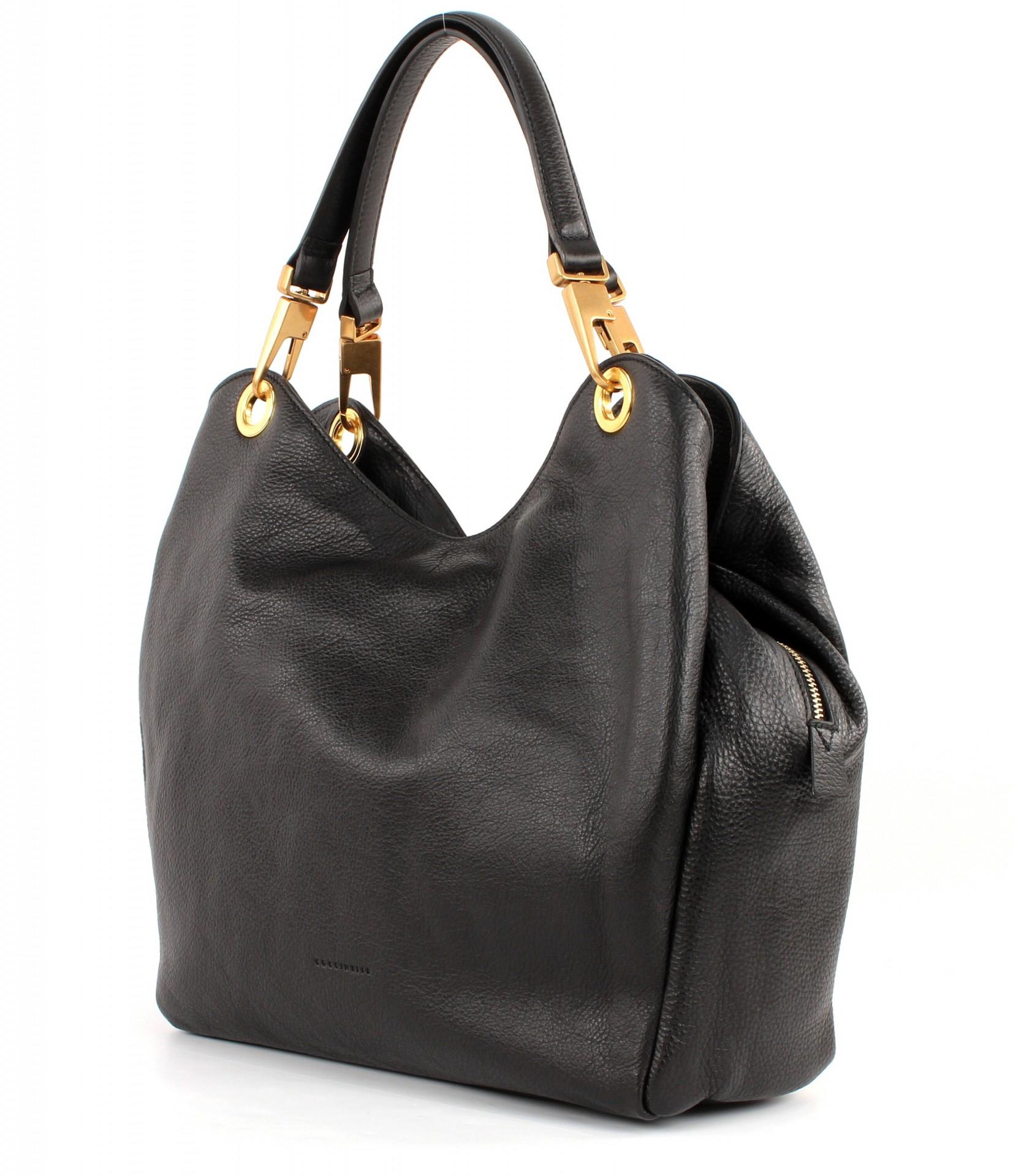 coccinelle roxy shoulderbag schultertasche tasche handtasche damen schwarz black ebay. Black Bedroom Furniture Sets. Home Design Ideas