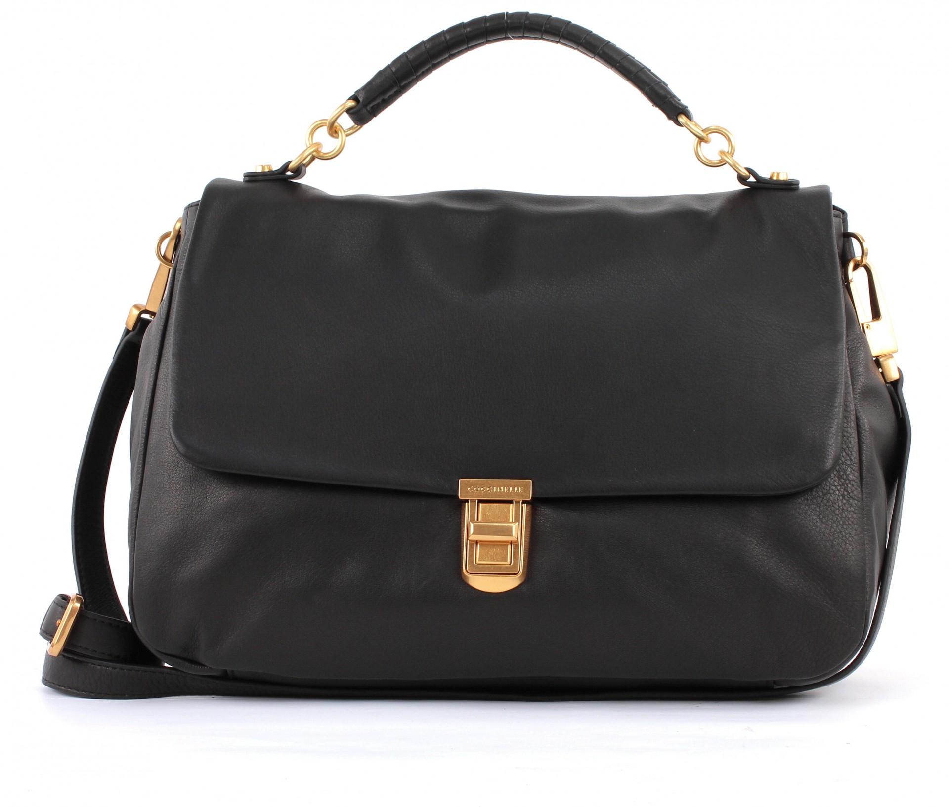 coccinelle oscar lux shoulderbag tasche umh ngetasche handtasche damen schwarz ebay. Black Bedroom Furniture Sets. Home Design Ideas