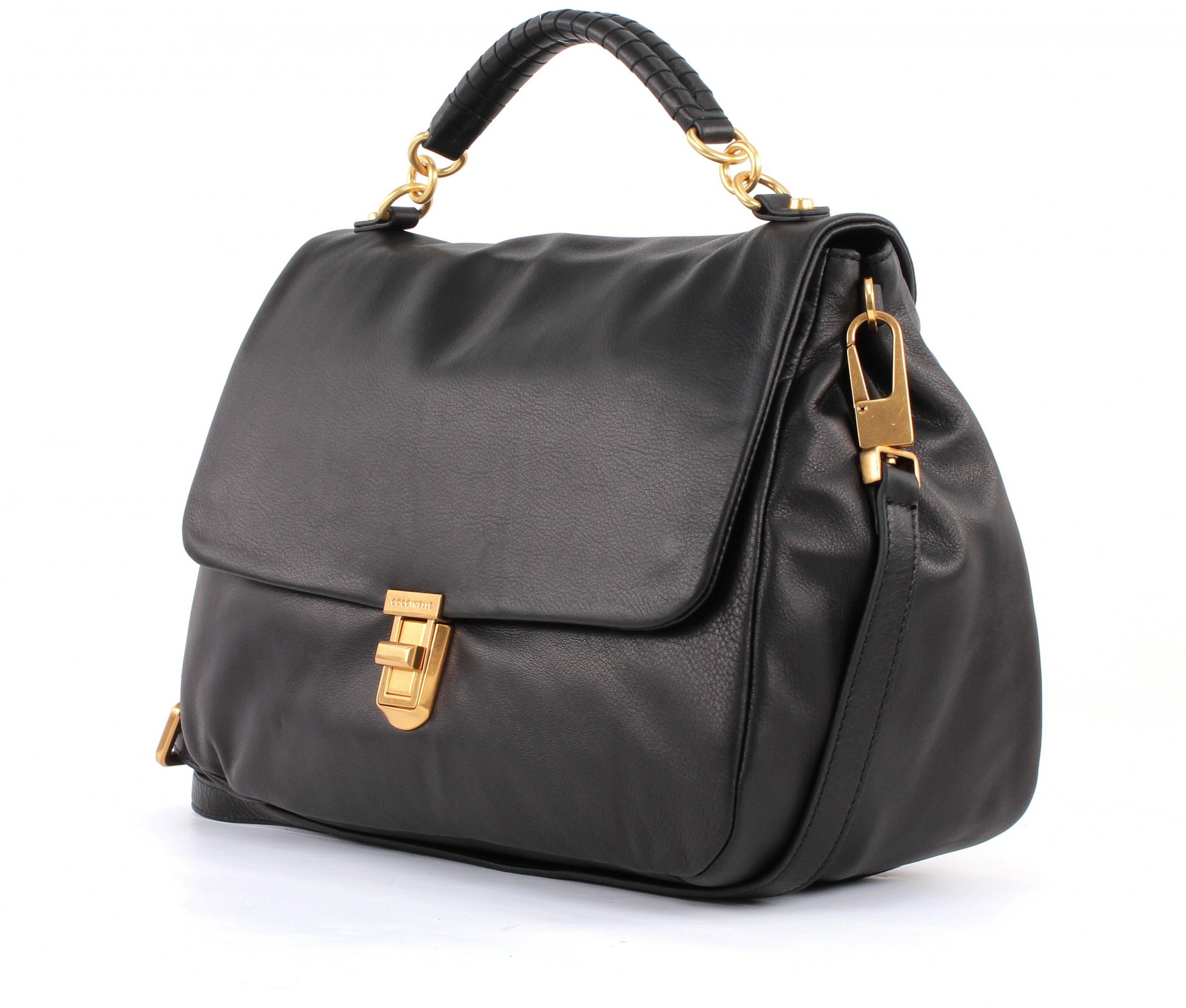coccinelle oscar lux shoulderbag tasche umh ngetasche handtasche damen schwarz. Black Bedroom Furniture Sets. Home Design Ideas