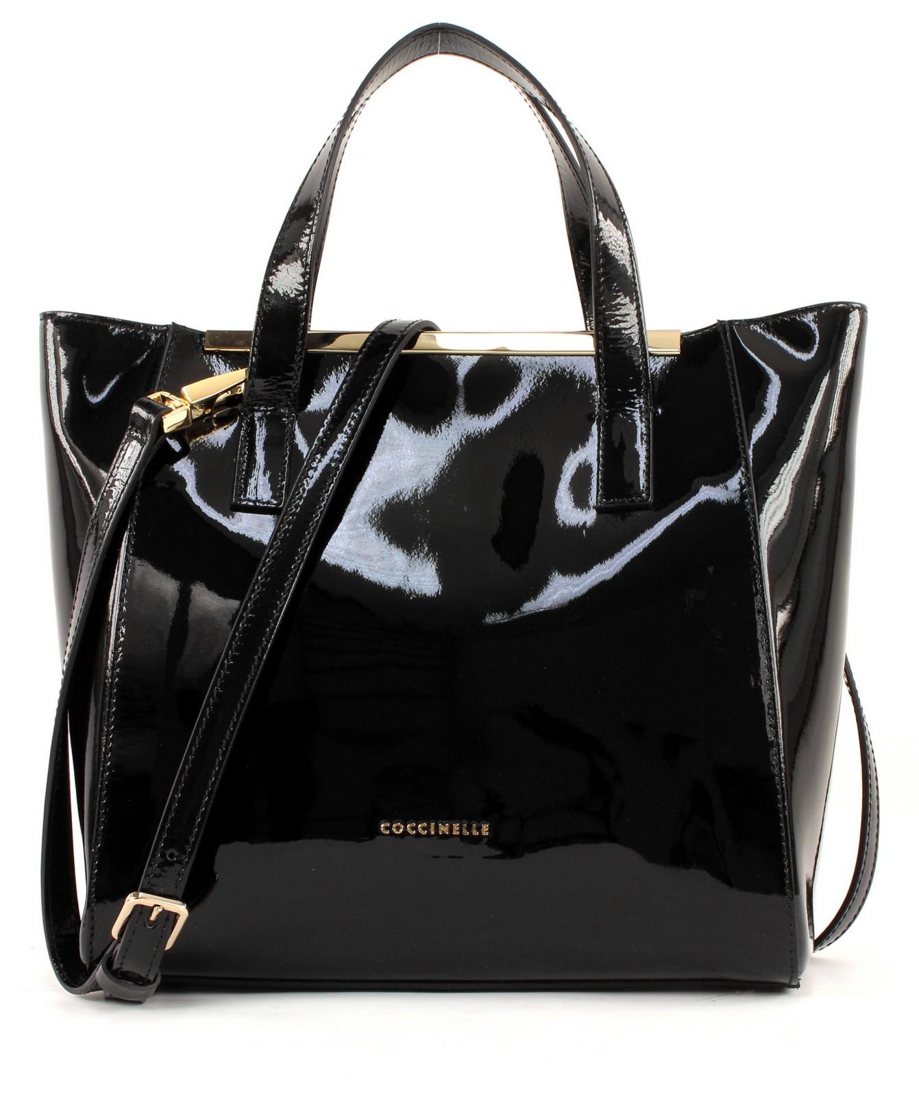 coccinelle amy shinny handbag tasche handtasche umh ngetasche damen schwarz neu ebay. Black Bedroom Furniture Sets. Home Design Ideas