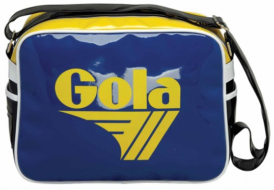 Redford Patent Tasche Black/Blue/Yellow