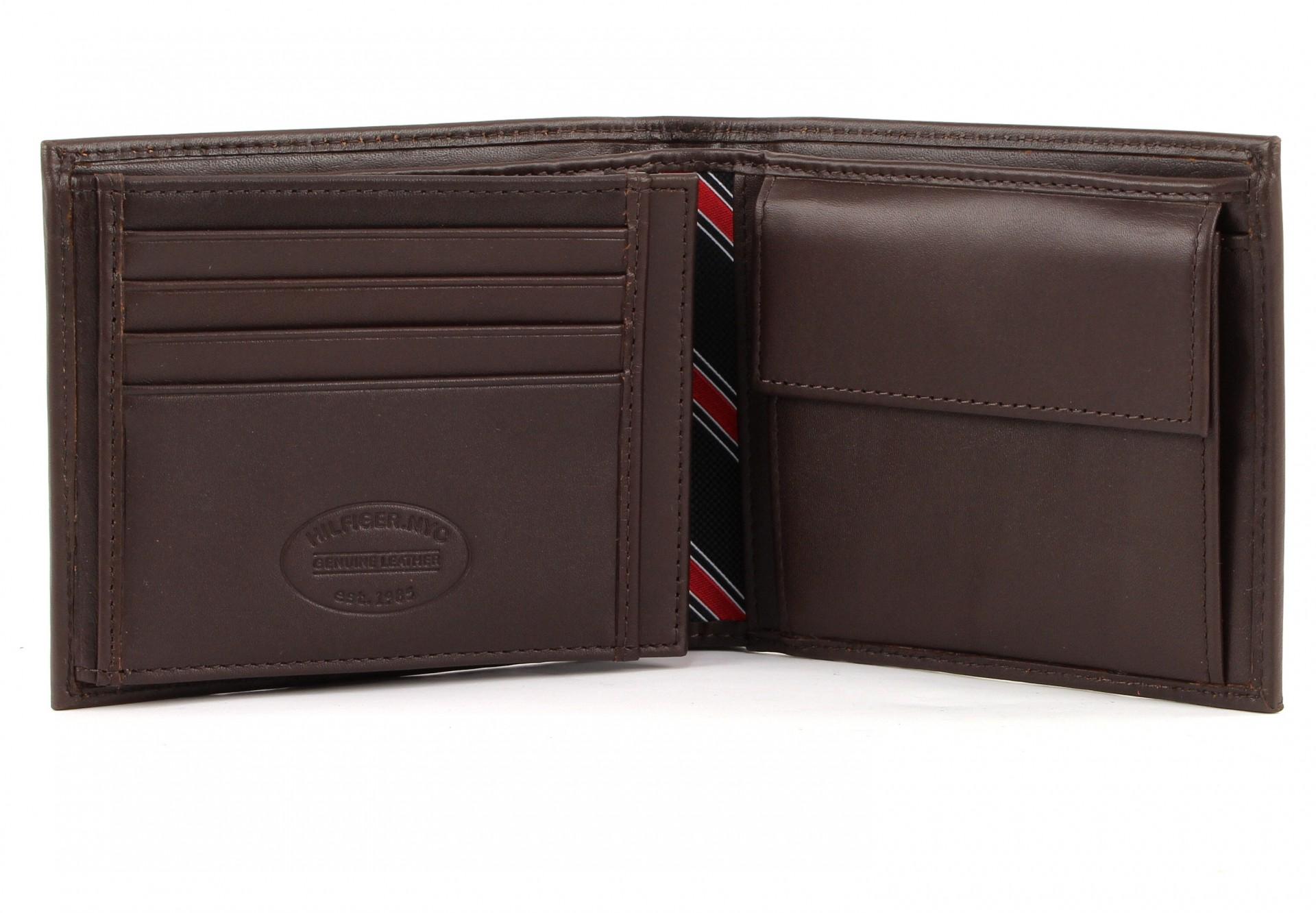 tommy hilfiger eton trifold wallet brown. Black Bedroom Furniture Sets. Home Design Ideas