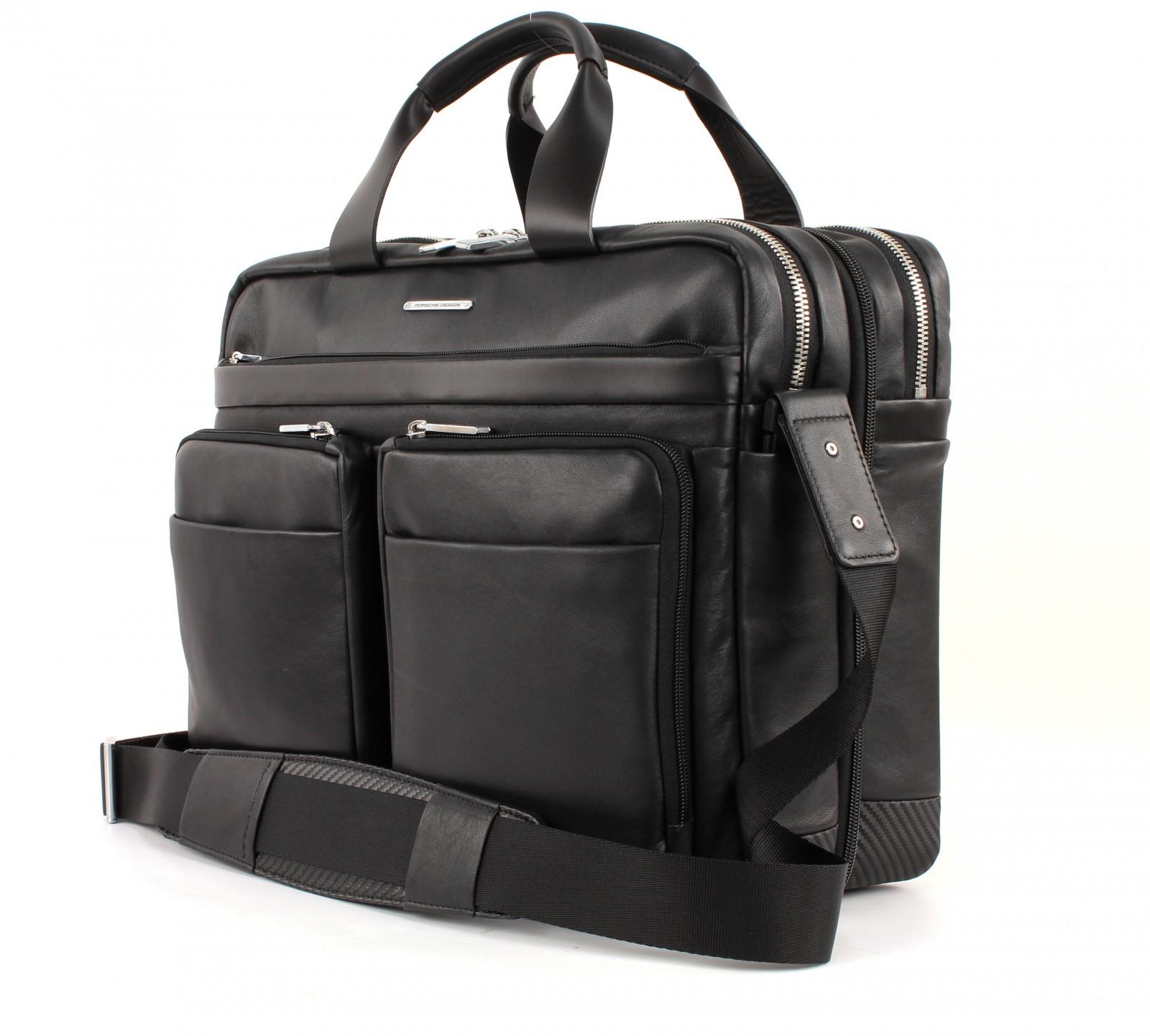 porsche design cl2 2 0 briefbag lh black. Black Bedroom Furniture Sets. Home Design Ideas